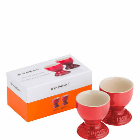 Set of 2 Egg Cups Cerise