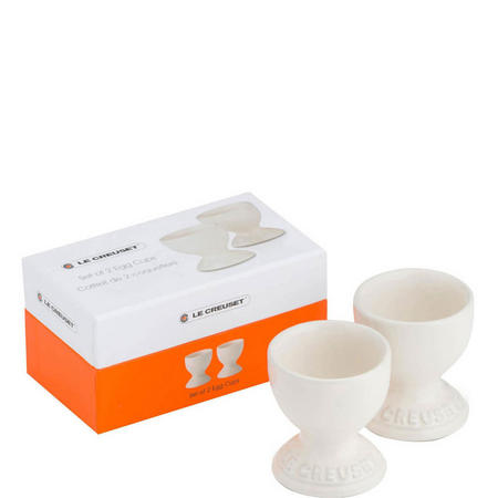 Set Of 2 Egg Cups Cream