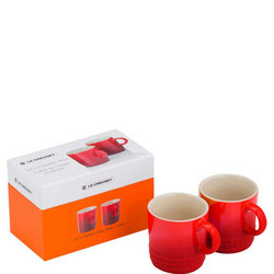 Set Of 2 Espresso Mugs Cerise