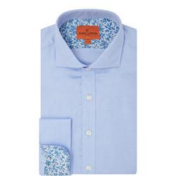 Double Cuff Twill Shirt Blue
