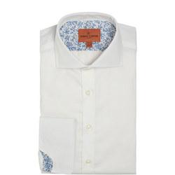 Double Cuff Twill Shirt White