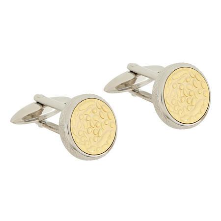 Gold Circular Cufflinks Gold