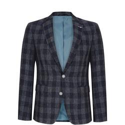 Nero Check Suit Jacket