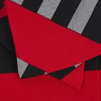 3/4 Sleeve Plaid Coat Multicolour