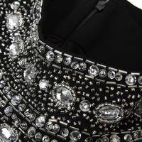 Embellished Neck Pencil Dress Black