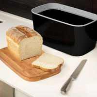 Bread Bin Black