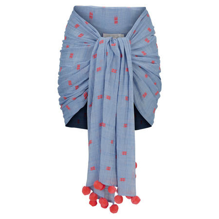 Spotted Sarong Blue