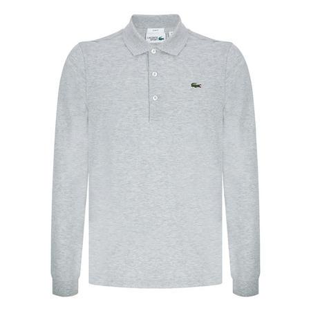 Classic Long Sleeve Polo Shirt Grey