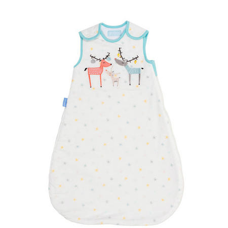 Reindeer Sleep Blanket Baby White