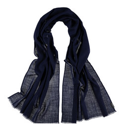 Solid Wool Wrap Navy