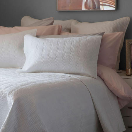 Stratford Square Pillowcase White