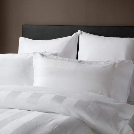 Lexington Wall Street Duvet Cover Set White