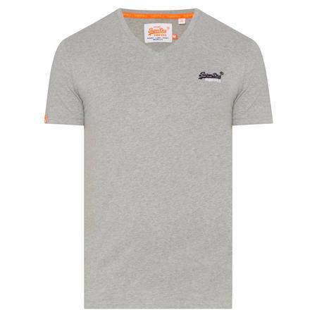 Vintage V-Neck T-Shirt Grey