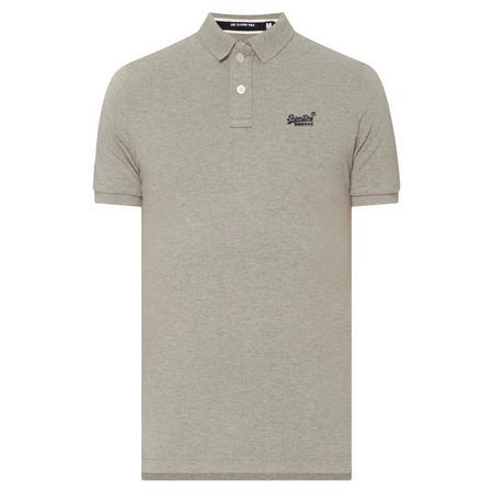 Classic Pique Polo Shirt Grey