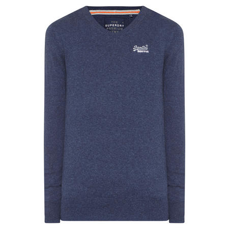 Original V-Neck Sweater Blue