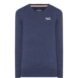 Original V-Neck Sweater Blue