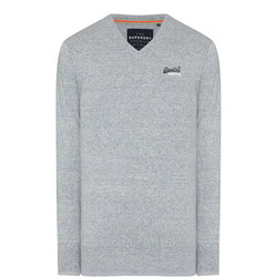 Original V-Neck Sweater Light Grey