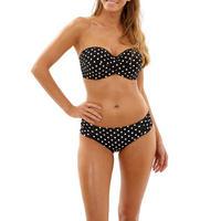 Anya Spot Bandeau Bikini Top Black
