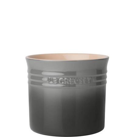 Stoneware Large Utensil Jar Flint Grey