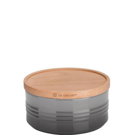 Stoneware Large Storage Jar With Lid Flint
