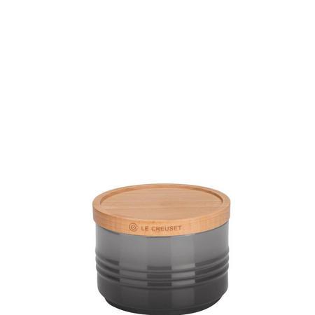 Stoneware Small Storage Jar With Lid Flint