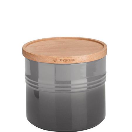 Stoneware XLarge Storage Jar With Lid Flint