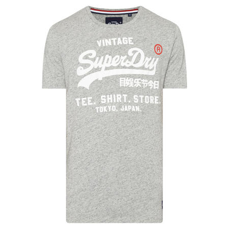 Vintage Print Tokyo T-Shirt Grey