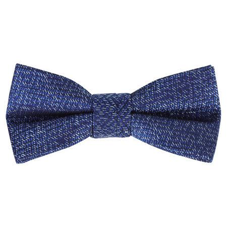 Weave Pattern Bow Tie Blue