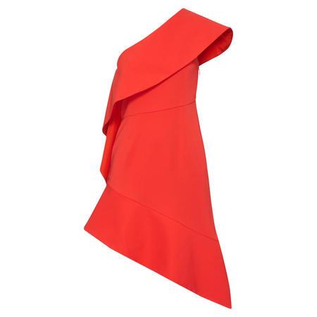 Nizza Asymmetric Dress Red