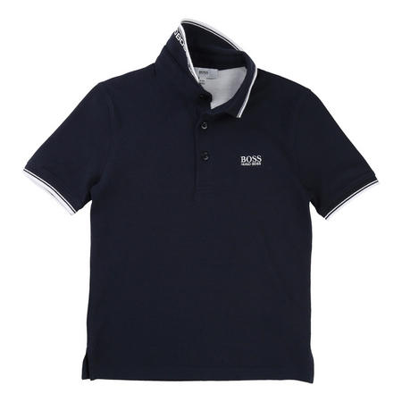 Boys Tipped Polo Shirt Navy