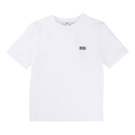 Boys Basic Short Sleeve Logo T-Shirt White