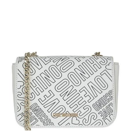 Mini Logo Shoulder Bag White