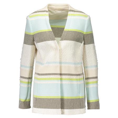 Striped Boucle Blazer Green