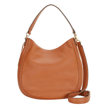 Whipstitch Hobo Bag Brown