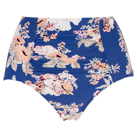 Vintage Wildflower High Waist Bikini Brief Blue