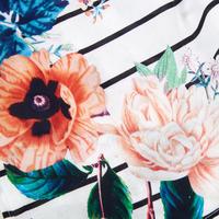 Floral Stripe Kaftan White