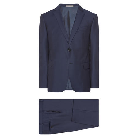 Dot Pattern Two-Piece Suit Blue