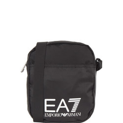 Logo Diamond Crossbody Bag Black
