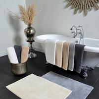 Hotel 800 Gramme Plain Dye Bath Mat Smoke
