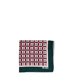 Geometric Silk Pocket Square Multicolour