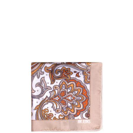Paisley Silk Pocket Square Multicolour