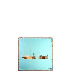 Dublin Silk Pocket Square Multicolour