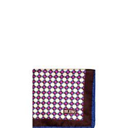 Geometric Circle Silk Pocket Square Multicolour