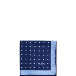 Dot Silk Pocket Square Navy