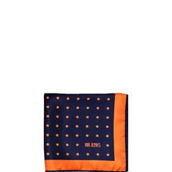 Orange Polka Dot Silk Pocket Square Multicolour
