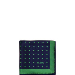 Green Polka Dot Silk Pocket Square Multicolour
