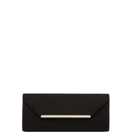 Gianna Fold Over Clutch Bag Black