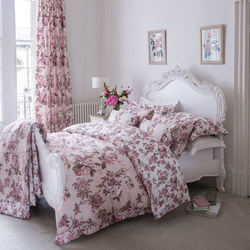 Blooming Floral Light Pink Duvet Cover