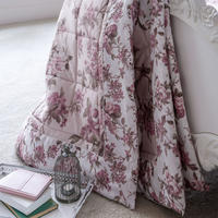 Blooming Floral Light Pink Throw