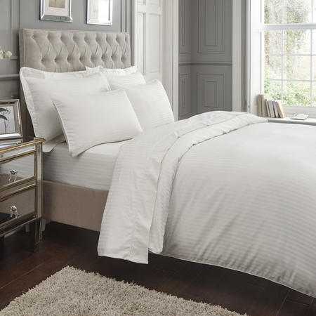 400 Thread Count Sateen Fitted Sheet White